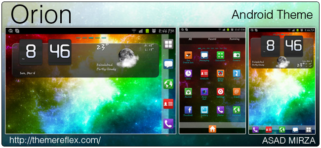 Orion theme for Galaxy Young, Ideos, HTC Desire and other Android