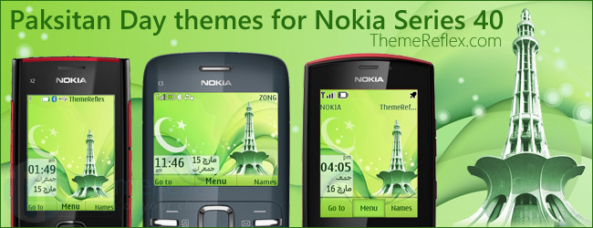 Pakistan Day – 23 March themes for Nokia Series 40 devices