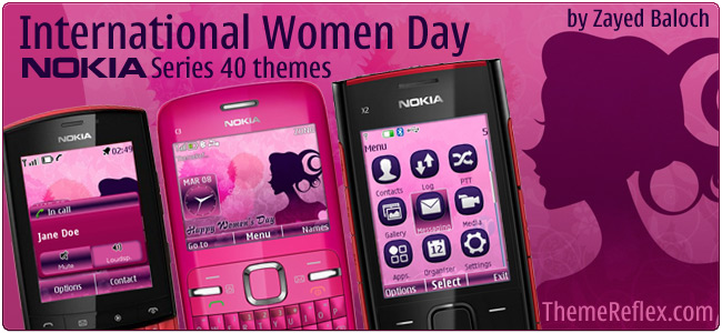 International Women Day Nokia Series 40 themes