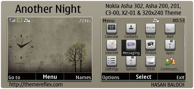 Another Night Theme for Nokia C3, X2-01 & Asha 200,201,302