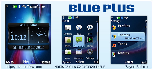 Blue Plus theme for Nokia X2-00, C2-01, X3 & 240×320 (Updated)