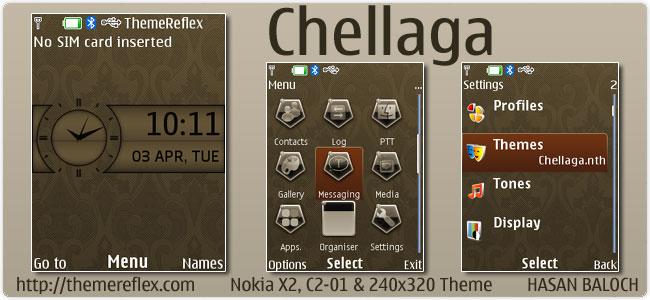 Chellaga Theme for Nokia X2, C2-01 & 240×320