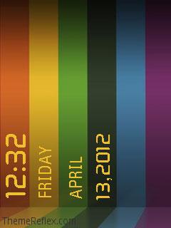 Color Lines Nokia flash lite screensaver for 240×320