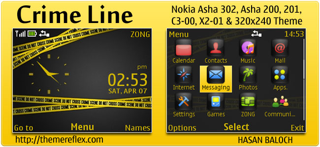 Crime Line Theme for Nokia C3, X2-01 & Asha 200,201,302