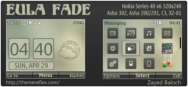 Eula Fade theme for Nokia Asha 302, C3-00, X2-01 & 320×240