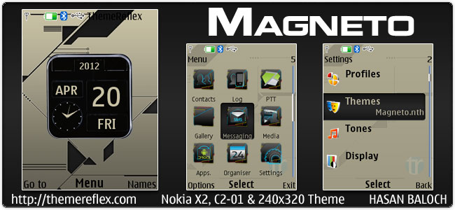Magneto Theme for Nokia X2, C2-01 & 240×320