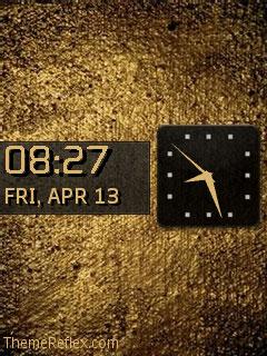 Pure Gold Nokia flash lite screensaver for 240×320