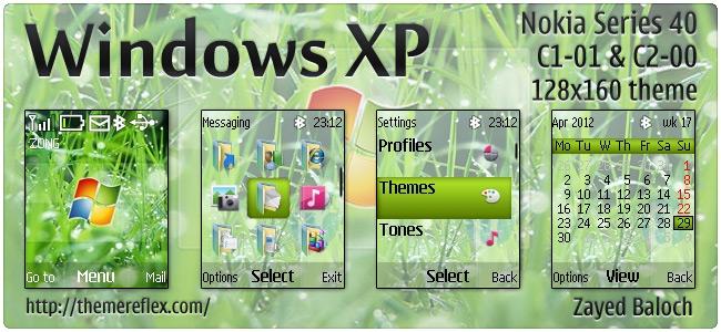 Windows XP theme for Nokia C1-01, C2-00, 2690 & 128×160