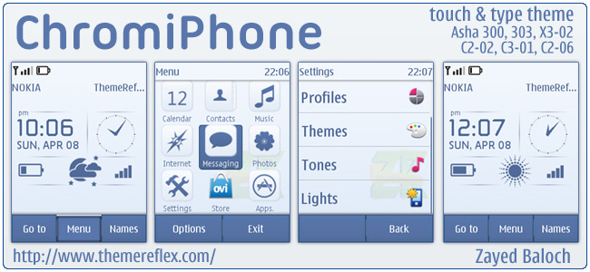 ChromiPhone theme for Nokia Asha 303, 300, X3-02, C2-06, Touch & Type