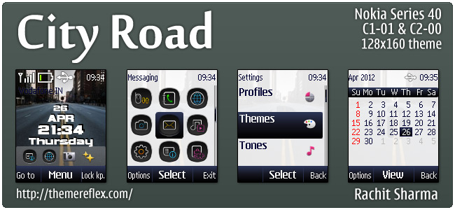 City Road theme for Nokia C1-01, C2-00, 2690 & 128×160