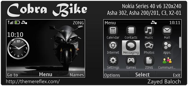 Tema Cobra Bike 320x240
