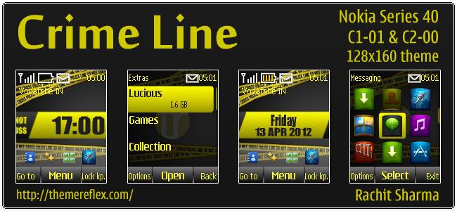 Crime Line for Nokia C1-01, C2-00, 2690 & 128×160