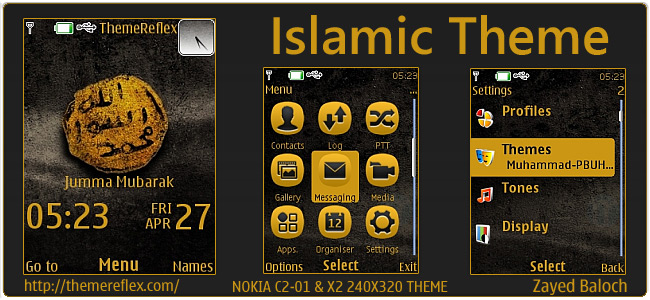 Islamic theme for Nokia X2-00, C2-01, X3 & 240×320