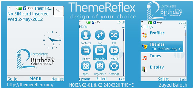ThemeReflex 2nd Birthday theme for Nokia Series 40