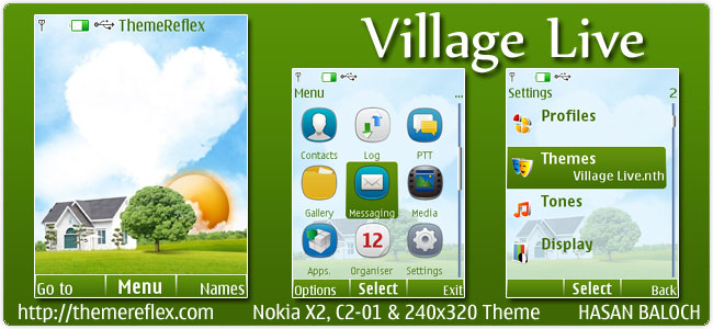 Village Live theme for Nokia X2, C2-01 & 240×320