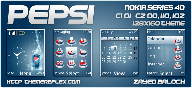 Pepsi theme for Nokia 110, 112, C1-01, C2-00, 2690 & 128×160