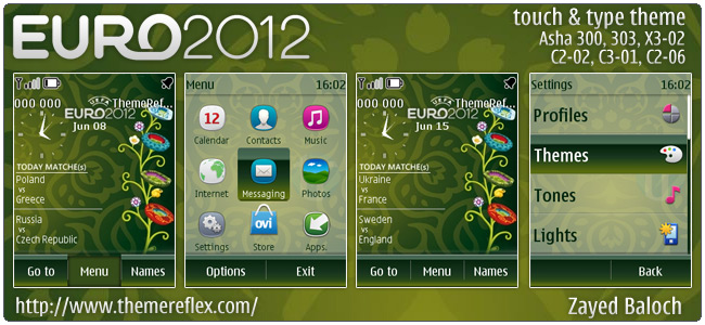 After releasing of Euro 2012 Schedule theme for Nokia 240×320 non