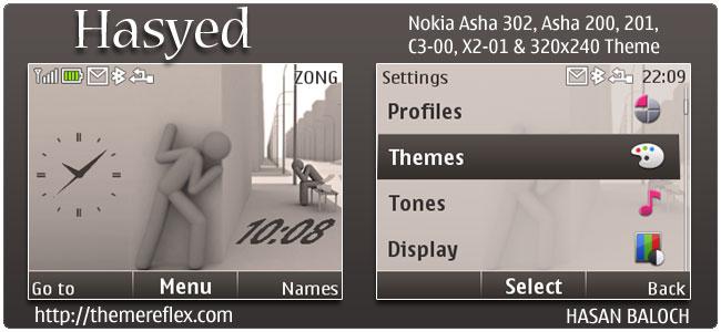 Hasyed Theme for Nokia C3, X2-01 & Asha 200,201,302