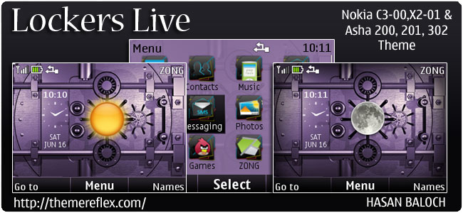 Lockers Live Theme for Nokia C3, X2-01 & Asha 200,201,302