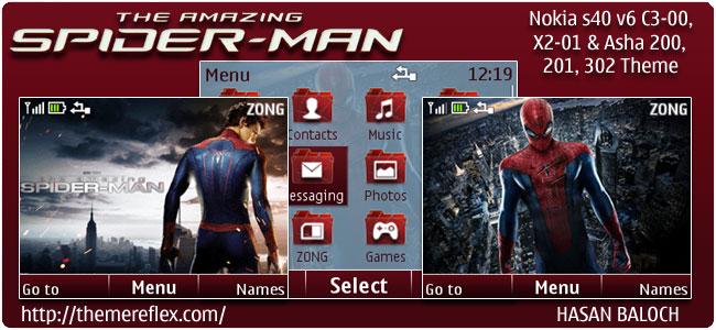 The Amazing Spider Man Theme for Nokia C3, X2-01 & Asha 200,201,302