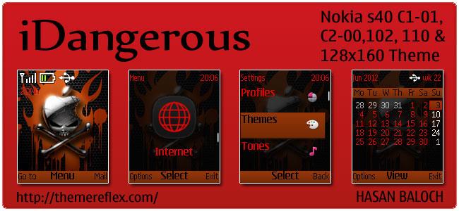 iDangerous Theme for Nokia 110, 112, C1-01, C2-00, & 128×160