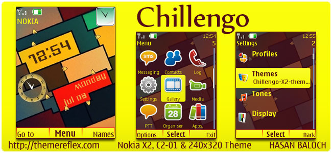 Chillengo Theme for Nokia X2, C2-01 & 240×320