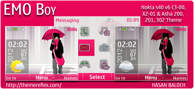 EMO Boy Theme for Nokia C3, X2-01 & Asha 200,201,302