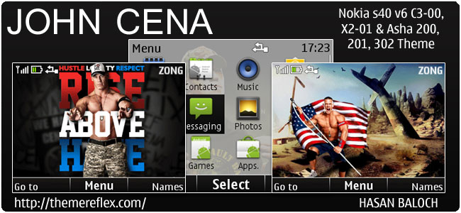 John Cena Animated Theme for Nokia C3, X2-01 & Asha 200,201,302