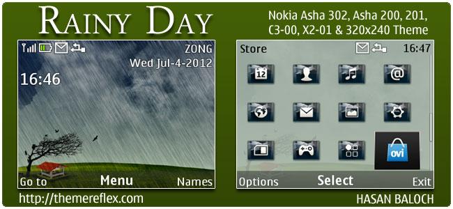 650 x 300 jpeg 54kB, Rainy Day Animated Theme for Nokia C1-01, C2-00 ...