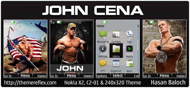 John Cena Animated Theme for Nokia X2, C2-01 & 240×320