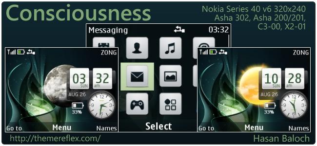 Consciousness Live Theme for Nokia C3, X2-01 & Asha 200,201,302