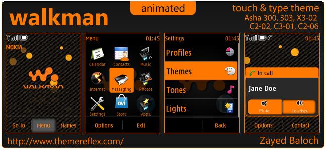 Walkman theme for Nokia Asha 303/300, X3-02, C2-02 and touch & type