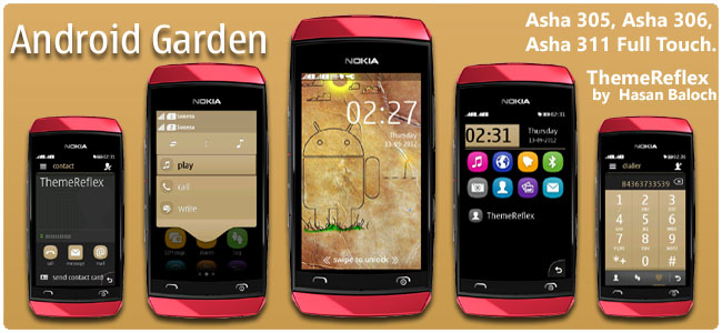 Android Garden Theme for Nokia Asha 305, Asha 306 & Asha 311