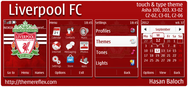 Liverpool FC Theme for Nokia Asha 303/300, X3-02, C2-02 & touch and type