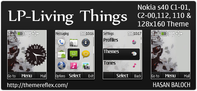 Linkin Park – Living Things Theme for Nokia C1-01, C2-00, 110, 112 & 128×160