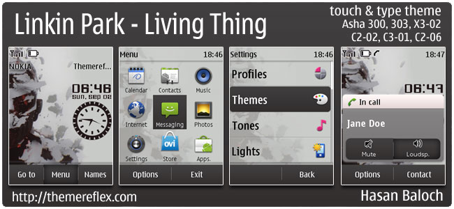 Linkin Park – Living Thing Theme for Nokia Asha 303/300, X3-02, C2-02 & touch and type