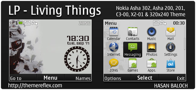 Linkin Park – Living Things Theme for Nokia C3, X2-01 & Asha 200,201,302