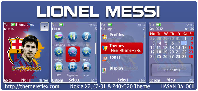 Lionel Messi Theme for Nokia X2, C2-01 & 240×320