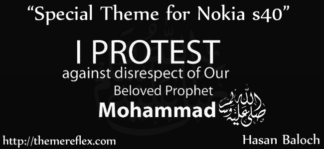 "Special Theme: ""I Protest"" Theme for Nokia series 40 devices"