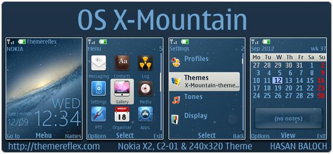 OS X-Mountain Theme for Nokia X2, C2-01 & 240×320
