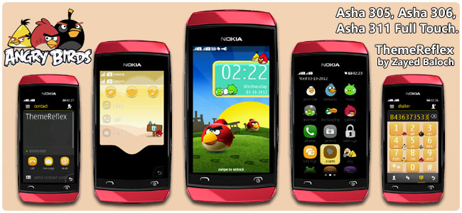 Angry Birds Theme for Nokia Asha 305, Asha 306, Asha 308, Asha 309 & Asha 311