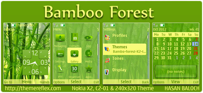 Bamboo Forest Theme for Nokia X2, C2-01, 2700 & 240×320