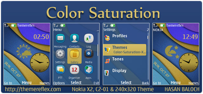 Color Saturation Live Theme for Nokia X2, C2-01 & 240×320