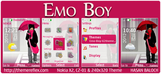 EMO Boy Live Theme for Nokia X2-00, C2-01, X3-05 & 240×320