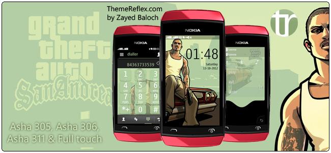 GTA SanAndreas theme for Nokia Asha 305, Asha 306, Asha 311