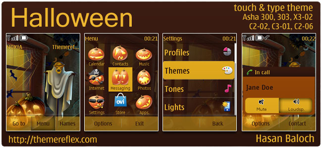 Halloween Theme for Nokia Asha 303/300, C2-02, X3-02 & touch and type