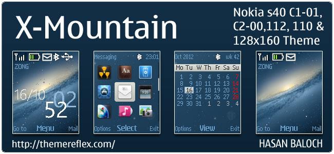 OS X-Mountain Theme for C1-01, C2-00, 110, 112 & 128×160