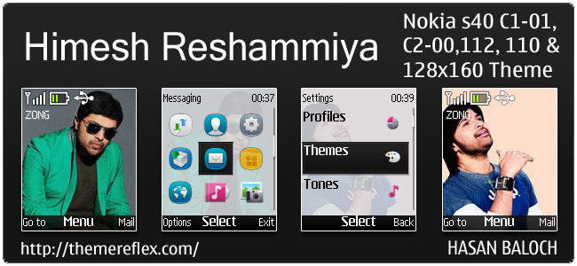 Himesh Reshammiya Animated Theme for Nokia C1-01, C2-00, 110, 112 & 128×160
