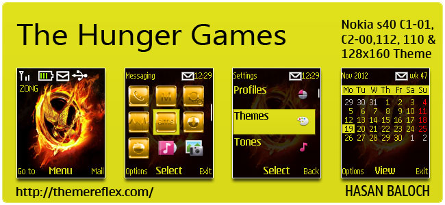 The Hunger Games Theme for Nokia C1-01, C2-00, 110, 112 & 128×160