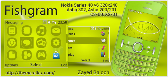 Fishgram Theme for Nokia C3-00, X2-01 & Asha 200,201,302